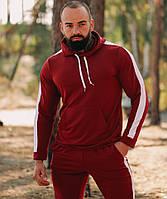 Спортивный костюм мужской весна-осень с капюшоном трикотаж Турция. Живое фото. Чоловічий спортивний костюм