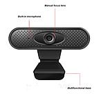 Веб-камера FULL HD веб камера для ПК | ноутбука 1080р веб камера с микрофоном, фото 2
