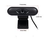 Веб-камера FULL HD веб камера для ПК | ноутбука 1080р веб камера с микрофоном, фото 3