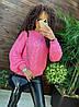 """Модный женский вязанный свитер """"Oversize"""" , размер единый 42-46, фото 5"""
