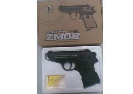 ZM 02 Дитячий пістолет метал на пульках
