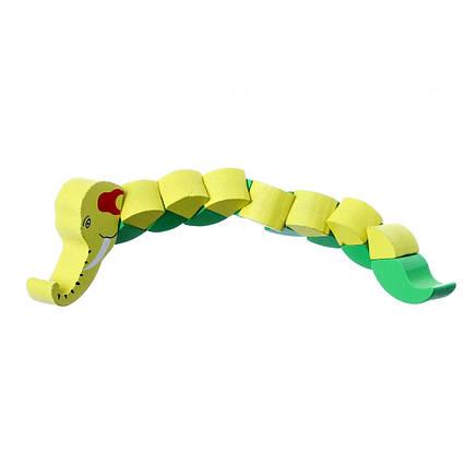 Дерев'яна головоломка змійка 5408