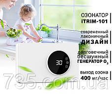 Бесшумный стильный озонатор-дезинфектор воздуха, воды, продуктов iTRIM-101 400мг/час, фото 3