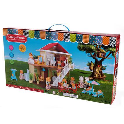 Ігровий будиночок Тварини флоксовые Happy Family 1514 з меблями