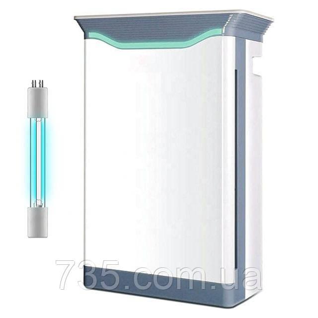 """Бактерицидный очиститель воздуха с УФ-лампой """"Tower-101"""": 8-ступенчатая очистка, кварцевание воздуха"""