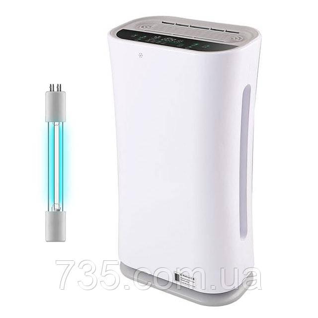 Очиститель воздуха для квартиры от пыли и вирусов Kiddy-101: HEPA и угольный фильтры, бактерицидная УФ-лампа