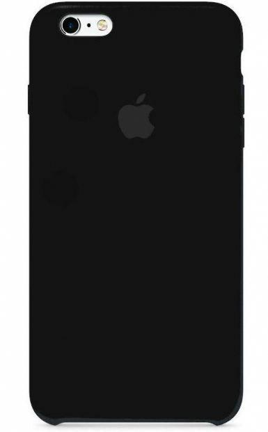 Чехол Apple Silicone Case iPhone 6, iPhone 6S Black_High Copy