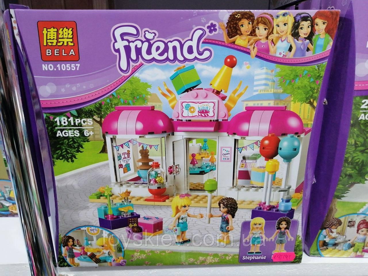 """Конструктор Bela Friends 10557 """"Подготовка к вечеринке """" (аналог Lego Friends 41132)"""