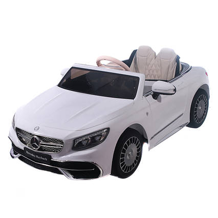 Mercedes-Maybach S650 Cabriolet ZB188 - детский электромобиль, белый глянец
