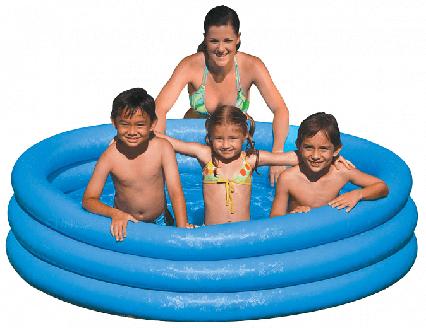 Дитячий надувний басейн Кристал Intex 58446NP