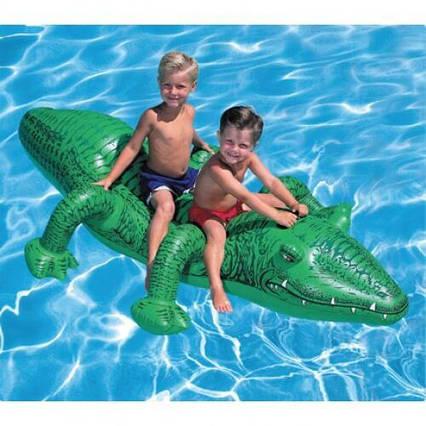 Надувна іграшка крокодил 58562 для плавання
