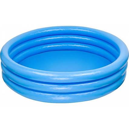 Басейн надувний 59416NP трехкольцевой Crystal Blue Pool, Intex