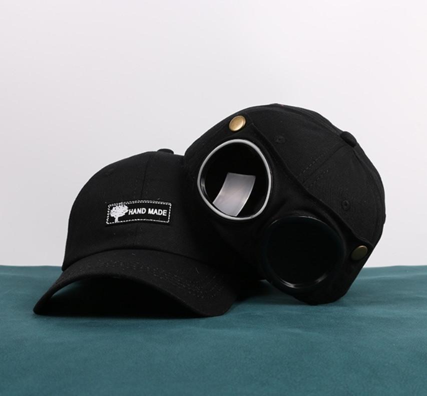 Кепка Бейсболка с маской Солнцезащитные очки Hande Made Черная 2, Унисекс
