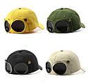 Кепка Бейсболка с маской Солнцезащитные очки Hande Made Черная 2, Унисекс, фото 2