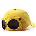 Кепка Бейсболка с маской Солнцезащитные очки Hande Made Черная 2, Унисекс, фото 5