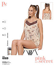 Пижама с шортами, PINK 6189