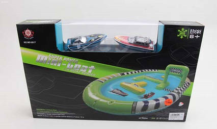MX-0017-12 надувний басейн з 2 човники на батарейках