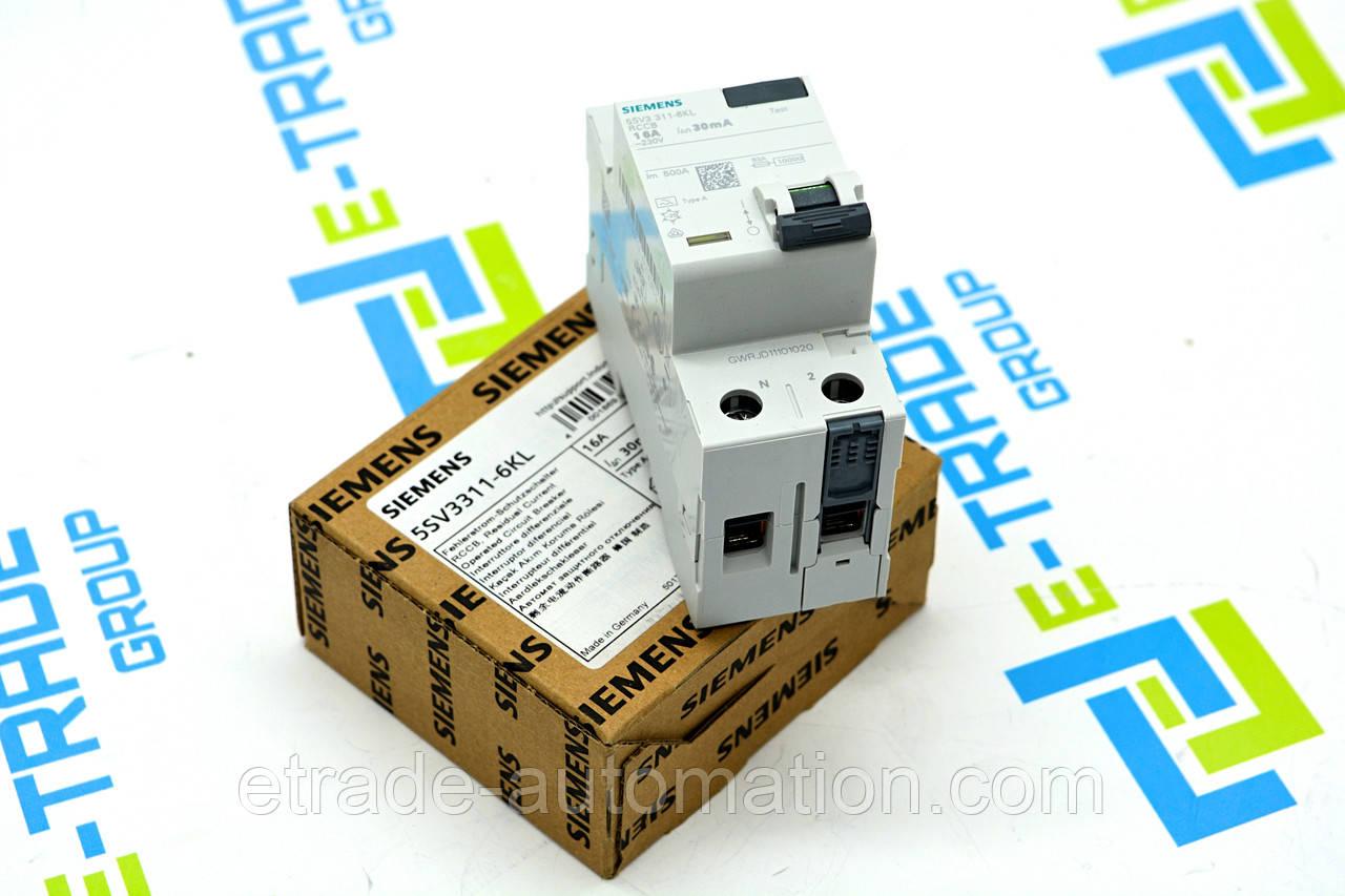 Автоматичний вимикач Siemens 5SV3311-6KL