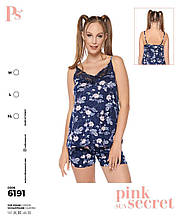 Пижама с шортами,PINK 6191