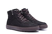 Мужские зимние кожаные ботинки ZG Black Exclusive New. Мужские кроссовки. Мужская зимняя обувь