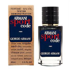 Giorgio Armani Armani Code Sport TESTER LUX, мужской, 60 мл