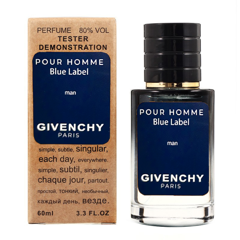 Givenchy Pour Homme Blue Label TESTER LUX, мужской, 60 мл