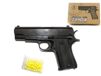 ZM04 Детский пистолет металл пластиковый корпус