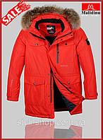 Теплая зимняя мужская куртка Malidinu (18308-2), куртки мужские, спортивная мужская куртка, Красный