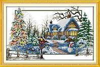 Зима Набор для вышивки крестом с печатью на ткани 14ст