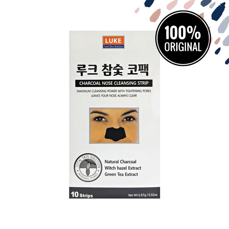 Пластир від чорних крапок з деревним вугіллям LUKE Charcoal Nose Cleansing Strips