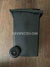 Євроконтейнер пластиковий ESE, 240 л чорний, фото 3