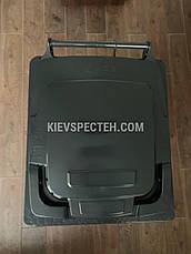 Євроконтейнер пластиковий ESE, 240 л чорний, фото 2