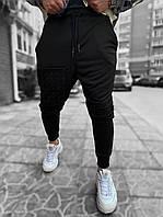 Мужские спортивные штаны черные, фото 1