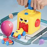 Аэромобиль balloon car машинка с шариком Aerodynamics Reaction FORCE Principle | Интерактивная игрушка, фото 2