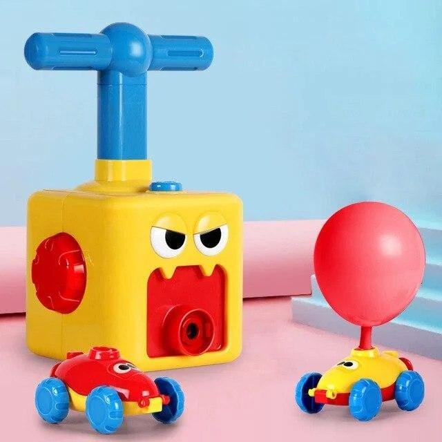 Аэромобиль balloon car машинка с шариком Aerodynamics Reaction FORCE Principle | Интерактивная игрушка