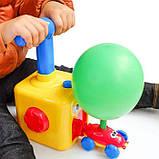Аэромобиль balloon car машинка з кулькою Аеродинаміці Reaction FORCE Principle   Інтерактивна іграшка, фото 5