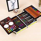 Художественный набор для рисования 145 предметов в алюминиевом чемоданчике | Набор для творчества Единорог, фото 6