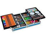 Художній набір для малювання 145 предметів в алюмінієвому валізці   Набір для творчості Єдиноріг, фото 8