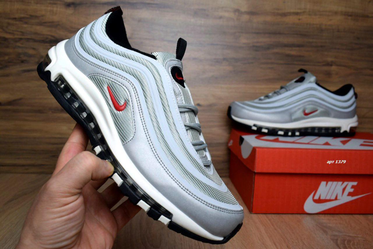 Кроссовки распродажа АКЦИЯ 550 грн Nike Air Max 97 44й(28,5см), 45й(29см) последние размеры люкс копия
