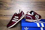 Кроссовки распродажа АКЦИЯ 550 грн Adidas ZX 500 бордовые 44й(28см) последние размеры люкс копия, фото 5
