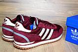 Кроссовки распродажа АКЦИЯ 550 грн Adidas ZX 500 бордовые 44й(28см) последние размеры люкс копия, фото 6