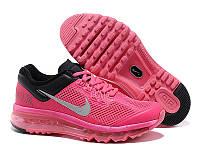 Кроссовки женские Nike Air Max 2013 (найк аир макс, оригинал) розовые