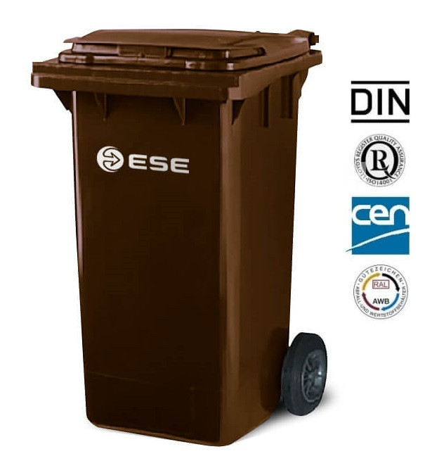 Євроконтейнер пластиковий ESE, 240 л, коричневий