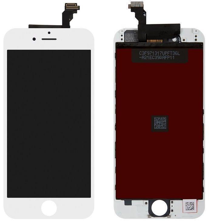 Дисплей Apple iPhone 6 з тачскріном і рамкою, високоякісна копія, білий