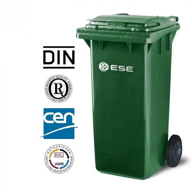 Євроконтейнер пластиковий ESE, 240 л зелений