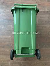 Євроконтейнер пластиковий ESE, 240 л зелений, фото 2