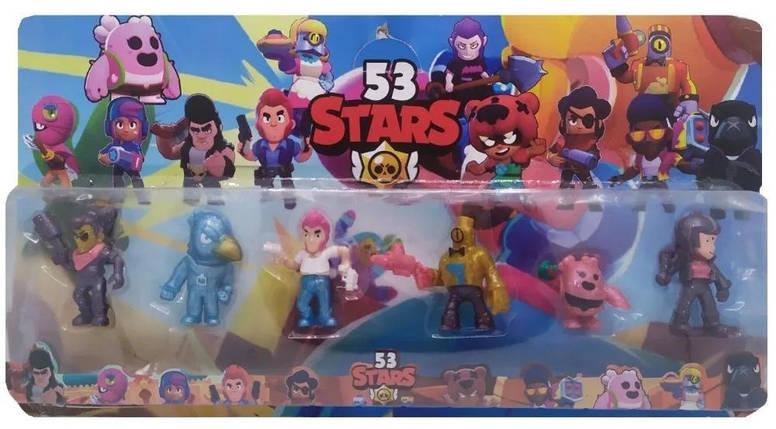 Детский набор героев 53 Brawl Stars (6 фигурок), фото 2