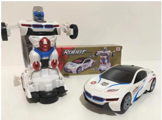 Машинка радіокерована трансформер Car Robot Bugatti 1:14 DEFORMATION NO:577, фото 2