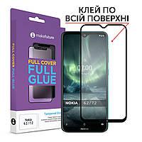 Защитное стекло MakeFuture Full Cover Full Glue Nokia 6.2, 7.2 Black (MGF-N62)