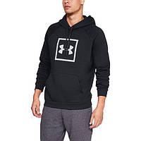 Толстовка Rival Fleece logo Hoodie Black - Under Armour черный - XXL (192006916680)